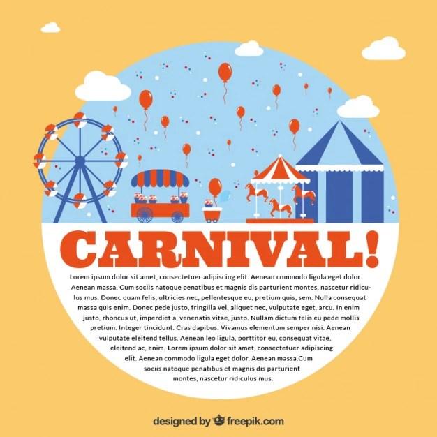 Carnival park flyer Vector Free Download