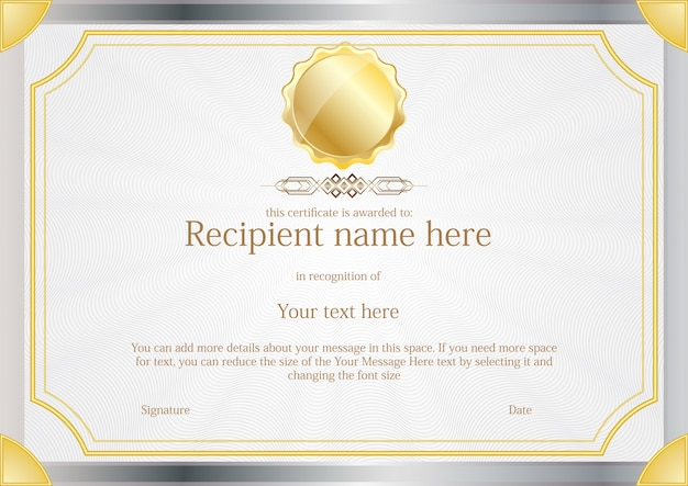 Certificate border template free vector download 17901 - mandegarinfo