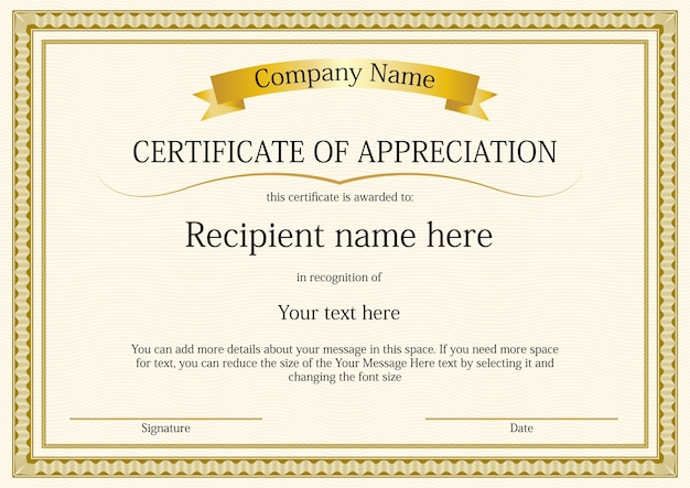 Certificate border template Vector Free Download - Free Printable Certificate Border Templates