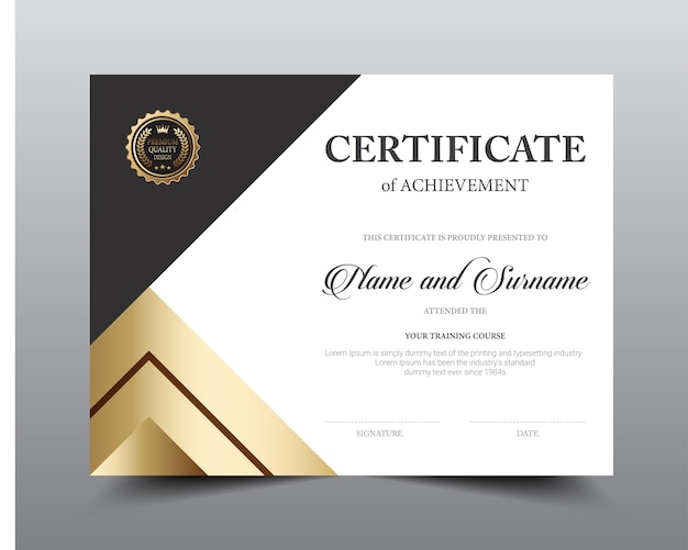Certificate layout template design Vector Premium Download