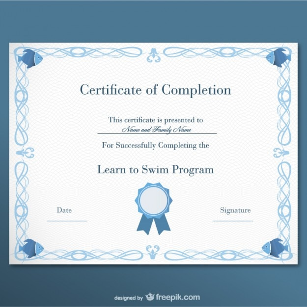 Certificate of completion Vector Free Download - certificate of completion template free download