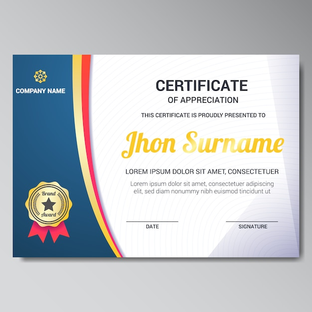 Certificate Frame Vectors, Photos and PSD files Free Download - certificate design format