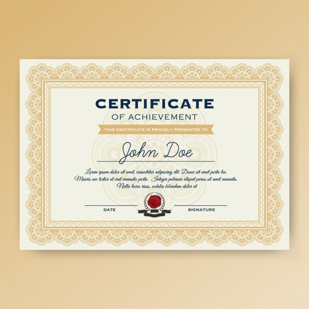 Certificate template design Vector Free Download - download certificate templates