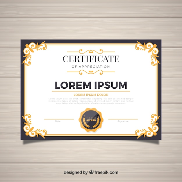 Certificate Border Vectors, Photos and PSD files Free Download - Free Professional Certificate Templates