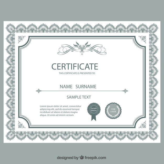 Certificate template Vector Free Download - free template certificate