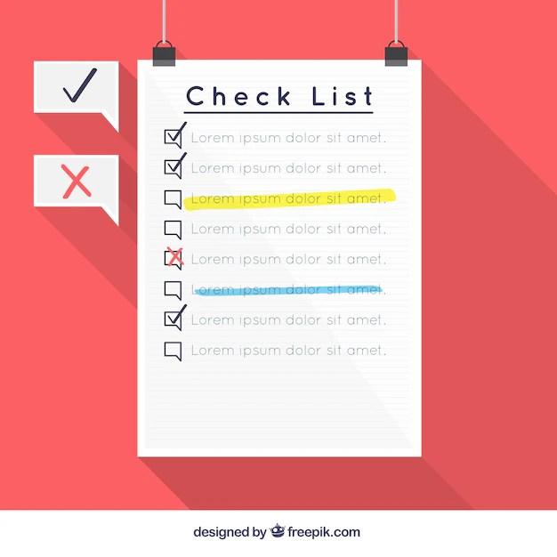 Checklist template design Vector Free Download