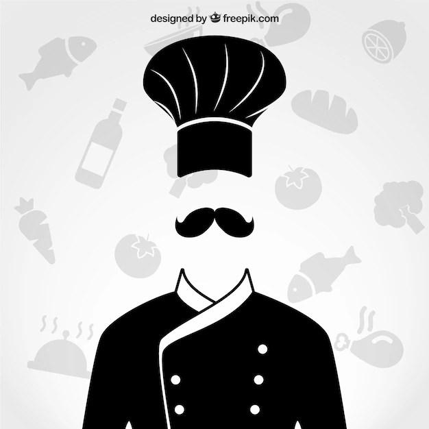 Black White Modern Wallpaper Chef Uniform Vector Free Download