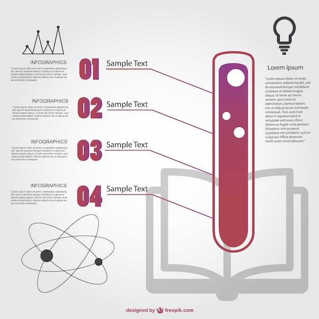 Chemistry infographic template Vector Free Download