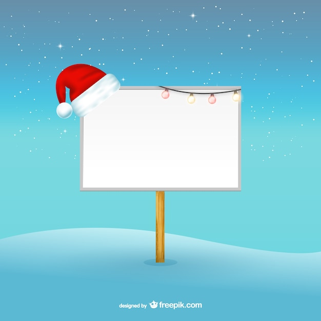 Christmas billboard template Vector Free Download - christmas template free