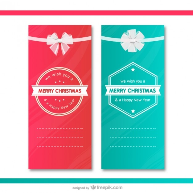 Christmas gift cards templates Vector Free Download - christmas gift card templates free