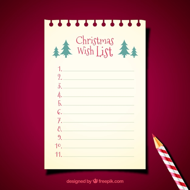 Christmas letter template with pencil Vector Free Download