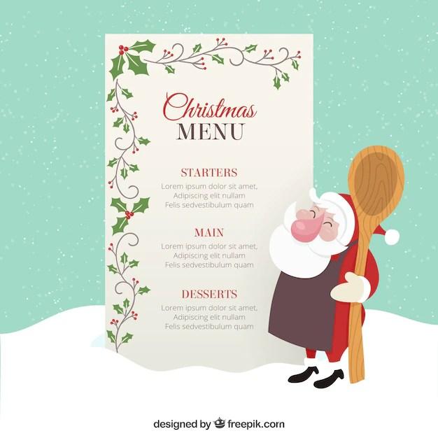Free Christmas Dinner Menu Template  LondaBritishcollegeCo