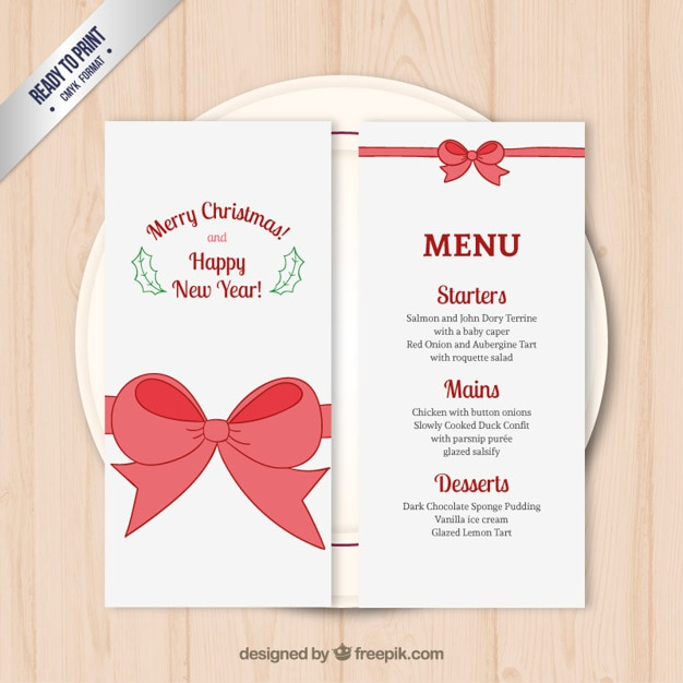 Christmas Menu Template Vector Free Download - christmas template free