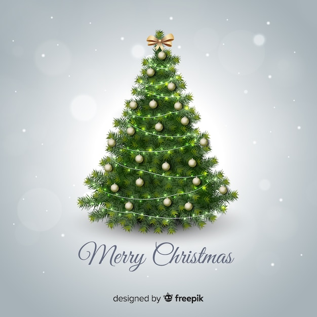 Christmas tree background Vector Free Download