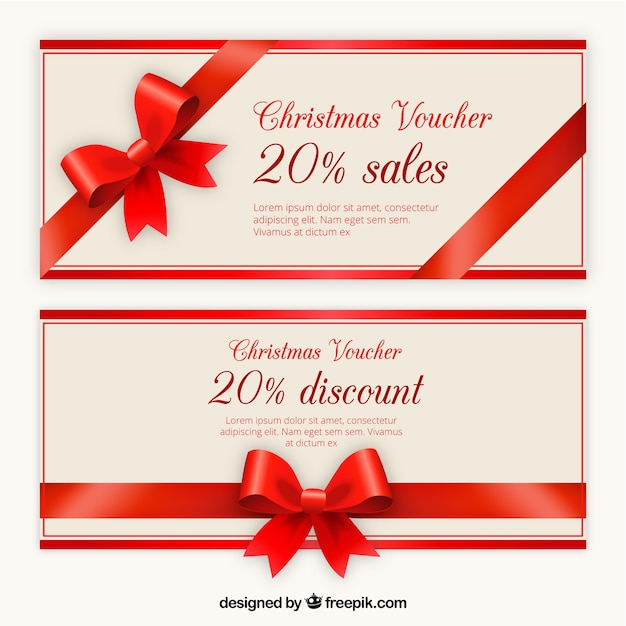 Christmas Voucher Discount Template Pack Vector Free Download - christmas gift vouchers templates