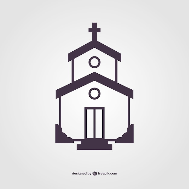 Church silhouette vector Vector Free Download