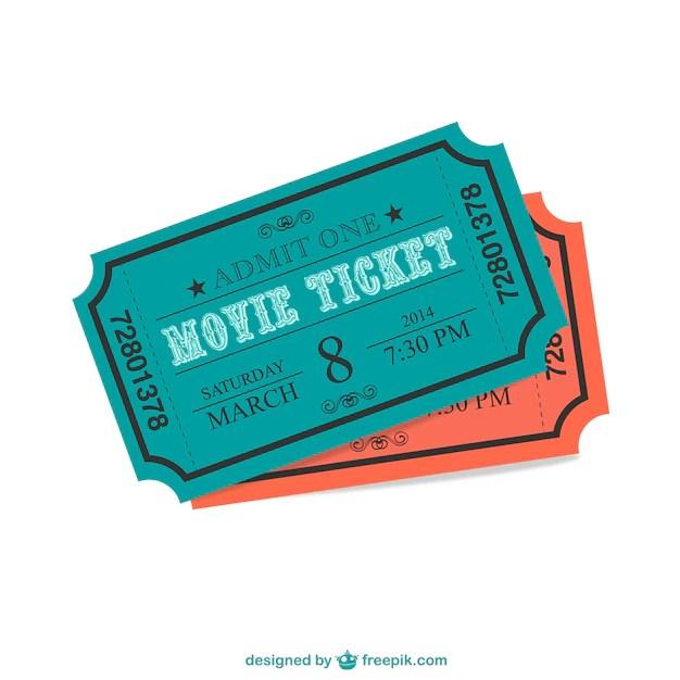 Cinema ticket Vector Free Download