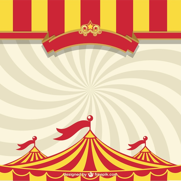 Circus tent and sunburst Vector Free Download