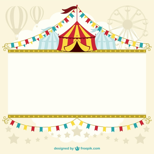 Circus tent template design Vector Free Download - free carnival sign template