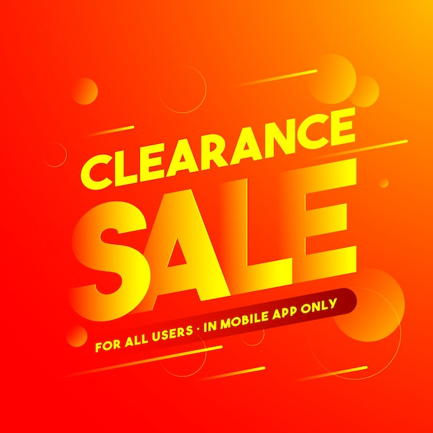 Clearance sale poster, banner or flyer design Vector Premium Download