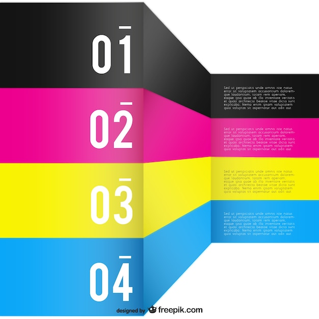 3d Colour Wallpaper Cmyk Background Template Vector Free Download