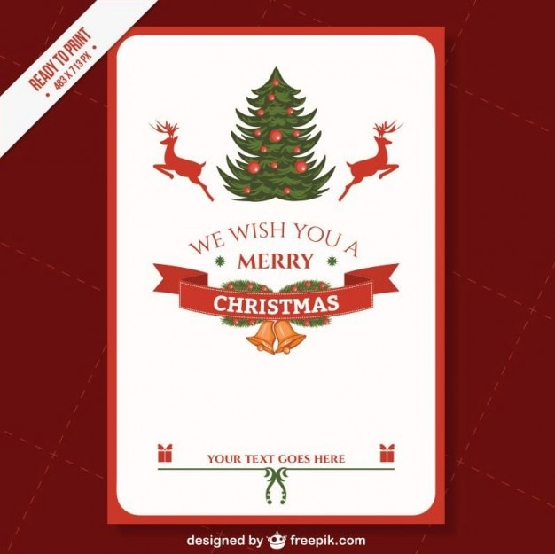 Cmyk Printable Christmas card template Vector Free Download - free printable christmas flyers templates