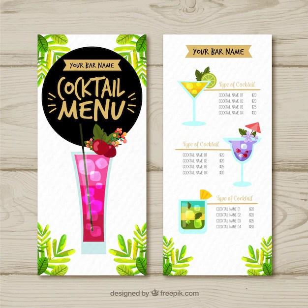 cocktail menu template - Yokkubkireklamowe