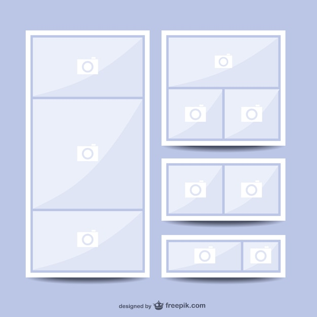 Collage picture template Vector Free Download - how to template