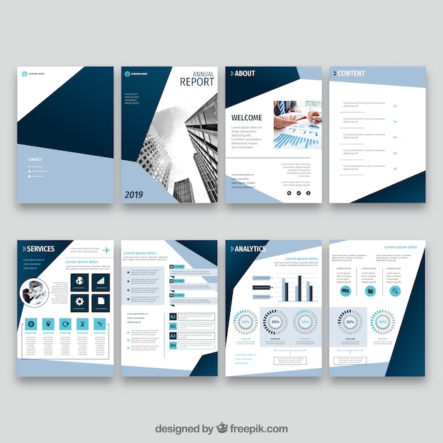 Annual Report Vectors, Photos and PSD files Free Download