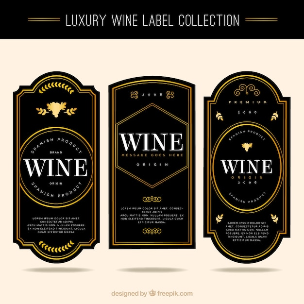 Wine Etiquette Vectors, Photos and PSD files Free Download
