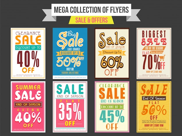 Collection of Sale and Discount Offer flyers, templates and - discount flyer template
