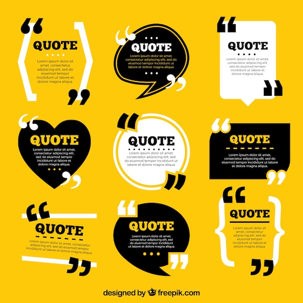 Collection of vintage style quote template Vector Free Download - graphic design quote template