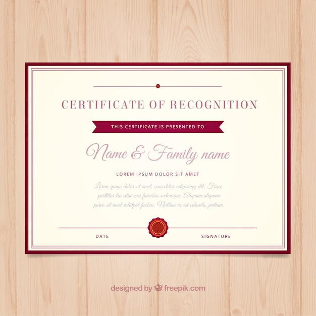 College certificate template Vector Free Download