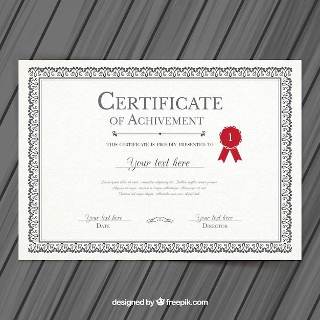 College certificate template Vector Premium Download