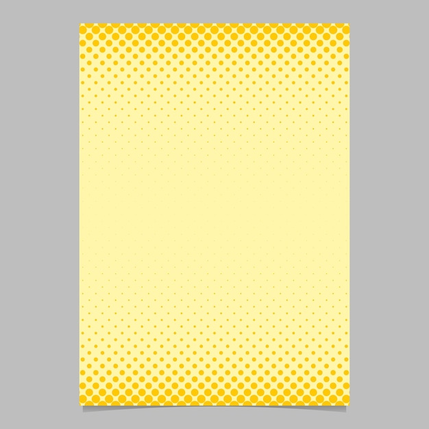 Color abstract halftone circle pattern card template - vector flyer