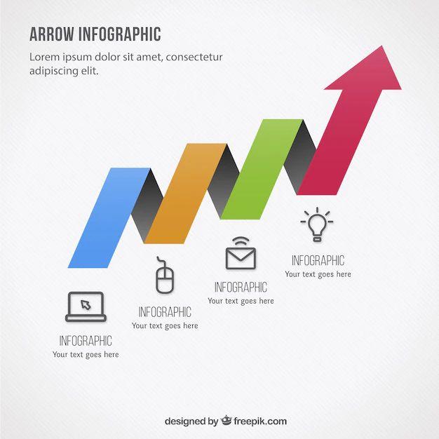 arrow infographic