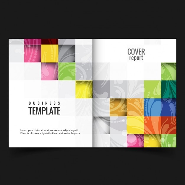 Colorful Business Report Cover Vector | Free Download
