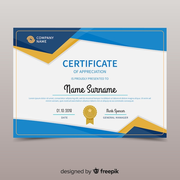 Certificate Vectors, Photos and PSD files Free Download