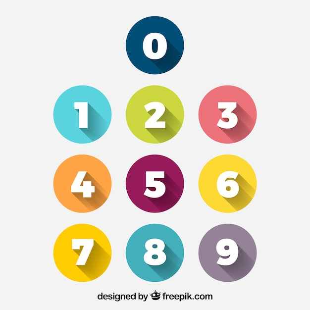 Number Vectors, Photos and PSD files Free Download