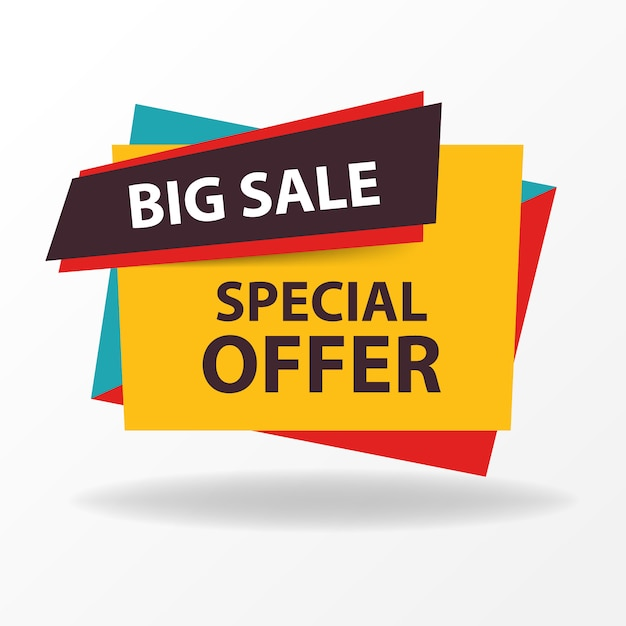 Colorful sale banner template Vector Free Download