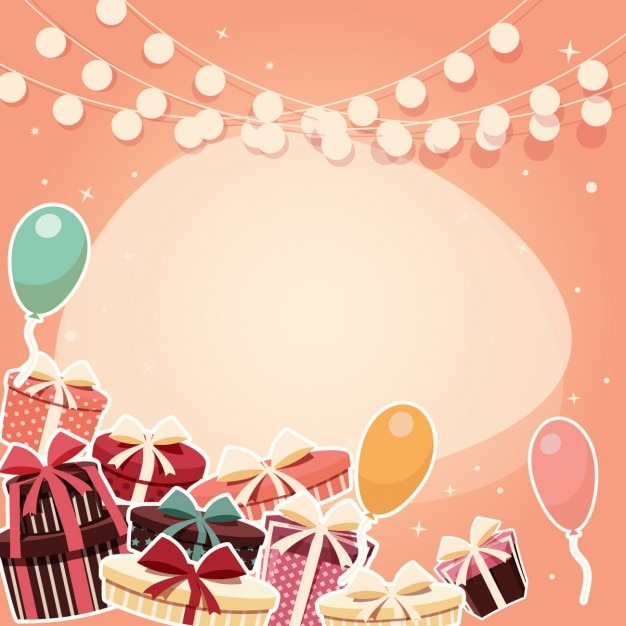 Coloured birthday background design Vector Free Download
