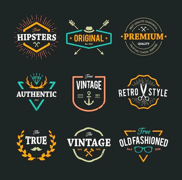 hipster logos - Onwebioinnovate - hipster logo template