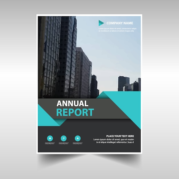 Commercial annual report template Vector Free Download - annual report template