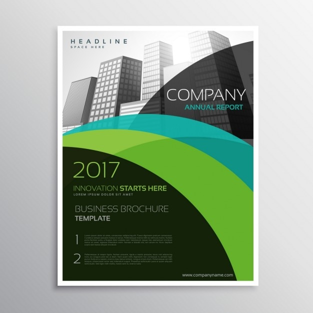 Company brochure template in abstract style Vector Free Download - Company Brochure Templates
