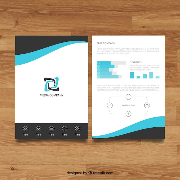 Company brochure template Vector Free Download - Company Brochure Templates