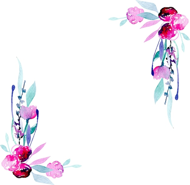 Hd Lavender Wallpaper Corner Border Frame With Simple Watercolor Pink