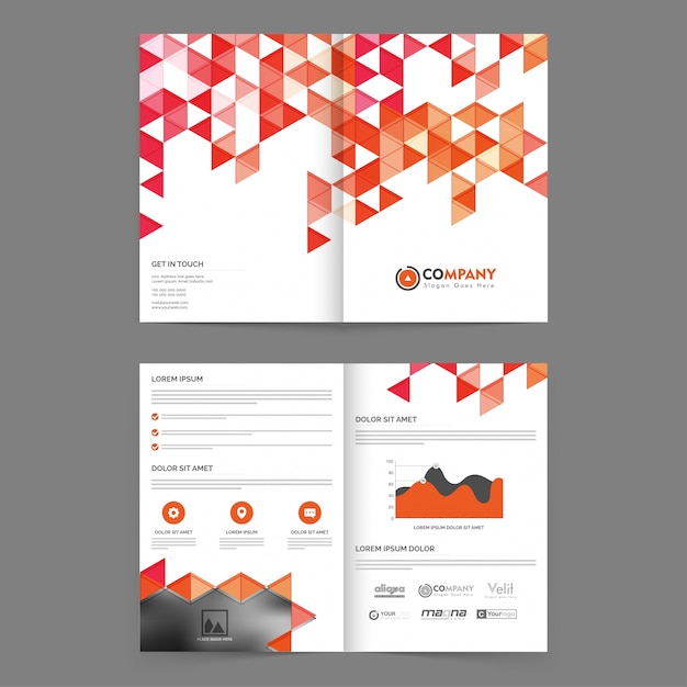 Download Vector - Abstract annual report template - Vectorpicker