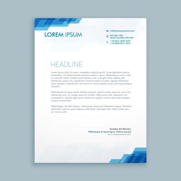 corporate-letterhead-presentation_1017-2295jpg (626×626) Headed - corporate letterhead