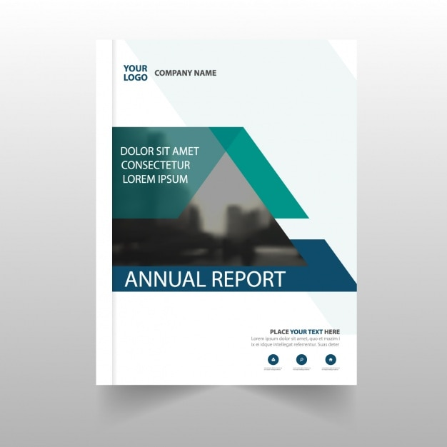 Corporate report template with abstract part Vector Free Download