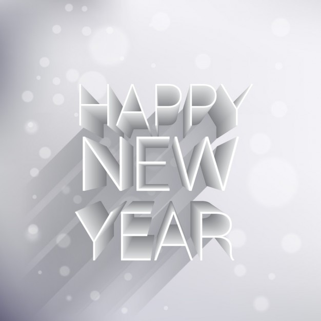 Creative 3d happy new year background Vector Free Download